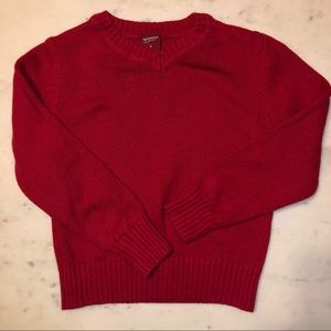 Arizona boys 6T red v-neck sweater long sleeved